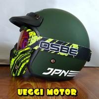 Helm Retro Jap Style Google Mask osbe Motif