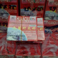 Jarum akupuntur huanqiu (tulisan kuning)