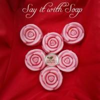 Sabun Mawar sabun bentuk bunga mawar sabun souvenir 50pcs