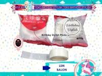 Lem Balon/ Perekat Balon/ Tempelan Balon/ Sticker Balon Transparan