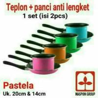 [ PASTELLA ]MILKPAN + FRYPAN PASTELLA / TEFLON PANCI SET MASPION GRUP
