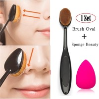 JBS New York Set Oval MakeUp Brush Foundation Powder Dan Spon Beauty