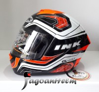 INK Helm CL MAX #5   BLACK WHITE RED FLUO   CLMAX FULLFACE Original