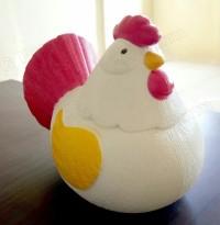 Celengan Ayam Plastik Cantik