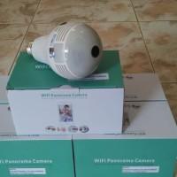 Camera CCTV IP Wireless Panoramic FISH EYE 360 Bohlam 3MP with IR