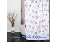 Shower Curtain Tirai Gorden Kamar Mandi Motif PEVA Anti Air TA02