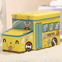 N3 HAPPYTIME Storage Box Cartoon Storage BUS Kotak peyimpanan mainan