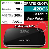 MIFI 4G ROUTER MODEM WIFI 4G SMARTFREN 4G ANDROMAX M5 FREE KUOTA 150GB