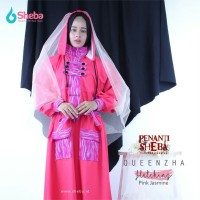 Jas Hujan Muslimah Sheba Queenzha Cream Motif at Indigo Model Gamis
