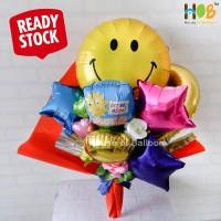 Bouquet / Buket Parcel Balon Bunga Smile Get Well Soon