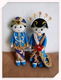 promo asyik boneka pengantin bahan flanel