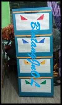 EKSLUSIF Lemari Plastik Club 4 Susun Besar Polos CMMY 4 STOK TERBATAS