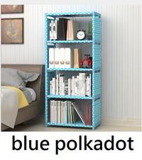 Rak buku portable serbaguna 5 susun 4 ruang lemari singgle R-S7