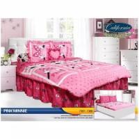 Sprei California 180 x 200 Pink Minnie ( King size )