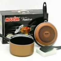 free bubble MAXIM panci set venice 5 in 1 teflon
