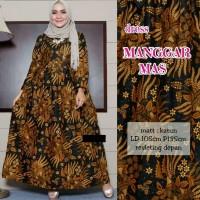 Gamis Batik Manggar Mas - Long Dress Batik Wanita Jumbo