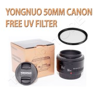 Lensa YongNuo 50mm (for Canon) Free UV Filter