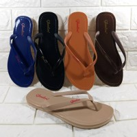 Sandal Jepit Wanita Sendal Teplek Flat Glanzton L1819 Glossy