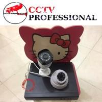 Paket camera cctv ekonomi 4 channel 2 camera lengkap harddisk