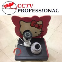 Paket camera cctv ekonomi 4 channel 2 camera