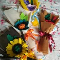 buket bunga flanel buket hadiah kado wisuda