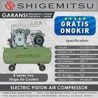 Kompresor Angin Listrik 3HP / 12 BAR 100L Shigemitsu