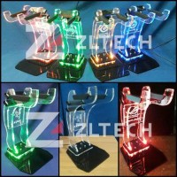 [AP] Headset / Headphone stand Akrilik LOGO RAZER GREEN LED (bisa r