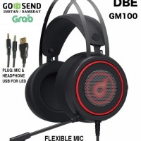 DbE GM100 Gaming Headphone with LED & Flexible Mic