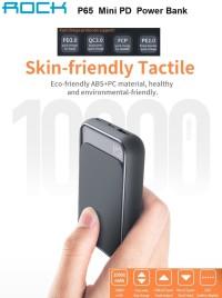 Power Bank ROCK P65 Mini PD 10000mAh Fast Charging Original100%
