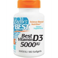Doctors best vitamin D3 5000IU 180 softgels