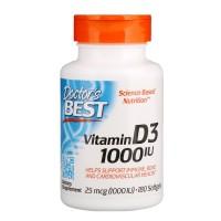 Doctors Best Vitamin D3 25 Mcg 1000 IU 180 Softgels