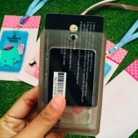 PALING DICARI NAME TAG ID CARD HOLDER SILIKON TALI GANTUNGAN MOTIF