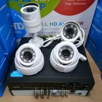 PAKET CCTV 4 CHANNEL 1,3 megapixel KOMPLIT SIAP pasang