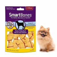 smartbones bacon cheese mini 8pk / makanan anjing dog snack kunyah