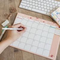 Floral Theme Monthly Plan Memopad / Buku Planner / Planner Bulanan