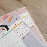 Ramen and Sushi Monthly Plan Memopad / Buku Planner Bulanan