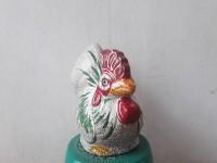 Celengan Ayam Tanah Liat (Warna Abu-abu,25 cm x 16 cm x 29 cm)
