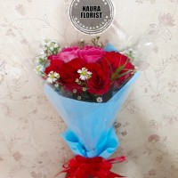 Hand bouquet mawar pink merah/Hot promo /bucket mix mawar pink
