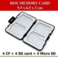 Case Holder Storage Box for Memory Card (4 CF + 4 SD card + 4 Micro SD