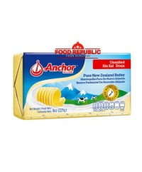 Anchor Unsalted Butter 227 GR Halal Enak Import New Zealand Premium