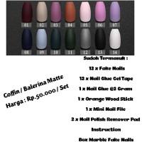 Coffin Matte Fake Nails