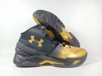 Sepatu Basket Under Armour Curry 2 MVP Black Gold Replika Impor