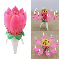 Lilin Ulang Tahun Music Bunga Teratai - Lotus Magic Birthday Candle