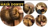 HAIR BUN DONAT RAMBUT SANGGUL CEPOL / DONAT RAMBUT COKLAT DIAMETER 9CM