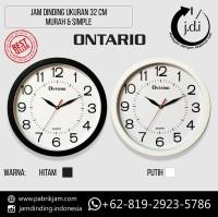 Jam Dinding Murah Simple Diameter 32 cm (Bonus Batere ABC)
