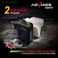 ADVANCE POWER CUBE AC04 NEW 4 PORT USB CHARGER 1A/1A/2A/2A HIGH POWER