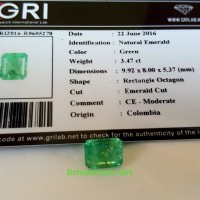 Natural Emerald/Original Colombia
