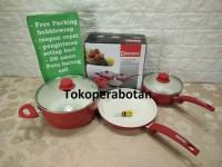 Panci set Ceramic Dessini 3in1/Frypan/ Penggorengan/wajan anti lengket
