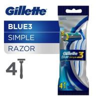 Gillette Pisau Cukur Blue Simple 3 Isi 4