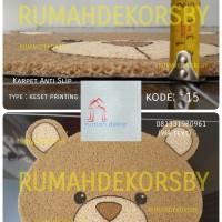 Keset Kaki Keset Mie Bihun Karakter Beruang / Hamster
